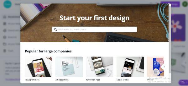 Bắt đầu thiết kế với Canva